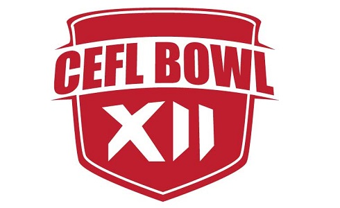 CEFL Bowl XII logo, design and